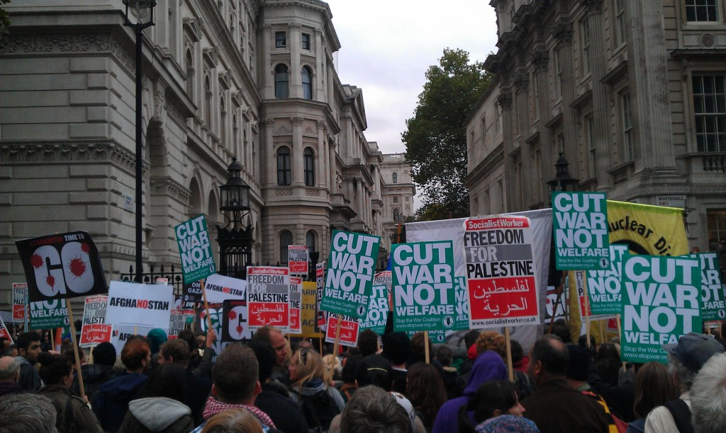 The march ended at Downing Street