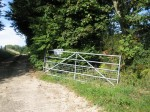 Entrance to Grove Farm from Upper Hergest