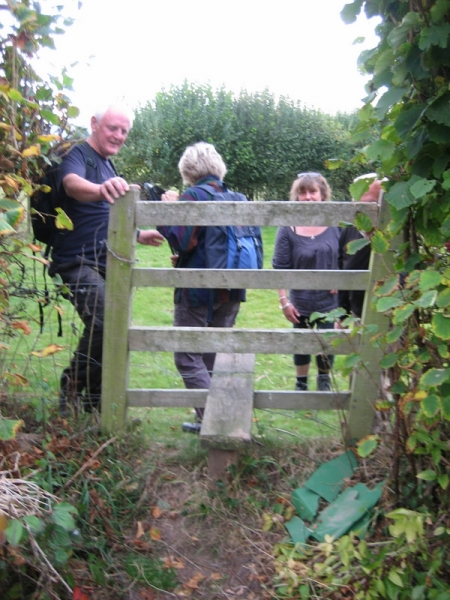 The first stile was so insecure it had to be held in place
