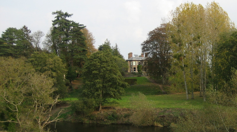 Looking across the river to Brobury House and gardens